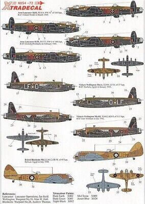 Xtradecal X72054 1/72 RAF Bomber Command Part 1 Model Decals • 7.49£