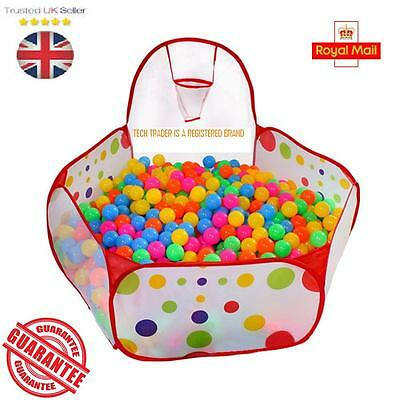 Portable Indoor Kids Baby Children Game Play Toy Tent Ocean Ball Pit Pool • 9.99£