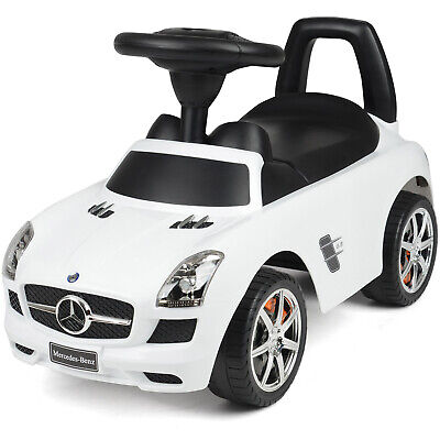 Ride On Car Mercedes Kids Foot To Floor Toddler Push Along Merc Toy With Sounds • 37.99£
