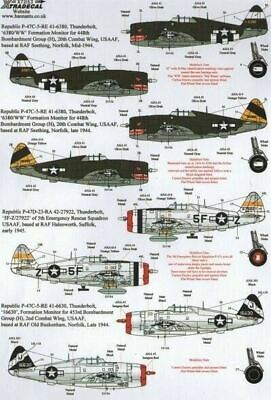 Xtradecal X72153 1/72 War Weary P-47D Thunderbolts Model Decals • 8.29£