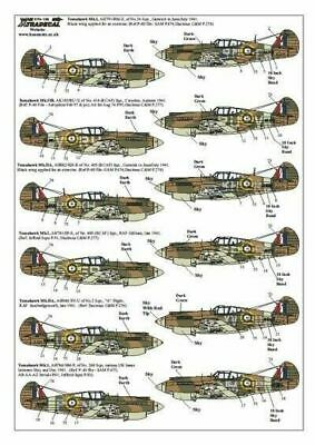 Xtradecal X72139 1/72 Curtiss P-40B Tomahawk Model Decals • 8.29£