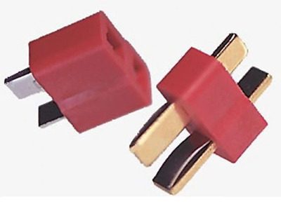 Deans  Style T Plug Connector RC, Male & Female Pairs, 1-20 Pairs - UK STOCK • 1.59£