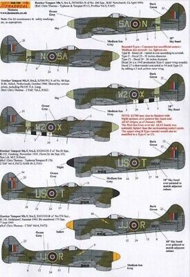 Xtradecal X48100 1/48 Hawker Tempest Mk. V Model Decals • 8.85£
