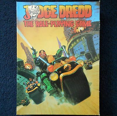 1985 Judge Dredd The Roleplaying Game Games Workshop 2000 AD Sci Fi RPG Book GW • 92£
