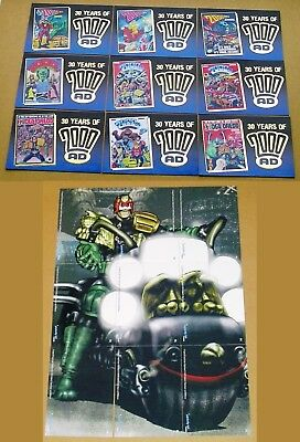 30 Years Of 2000AD Judge Dredd Gold Foil Chase Set Or Individual Cards F1 To F9 • 8.50£