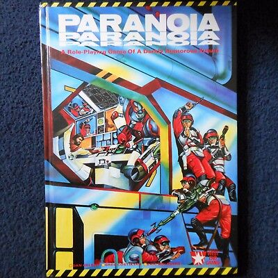 1986 Paranoia West End Games Workshop Adventure Game RPG Roleplaying Rule Book  • 74£