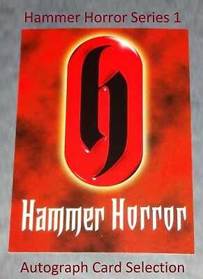 Hammer Horror Strictly Ink Series 1 - Selection Of Autograph Cards • 30£