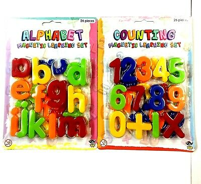 Magnetic Numbers And Letters Learning Toy Fridge Magnets • 2.99£