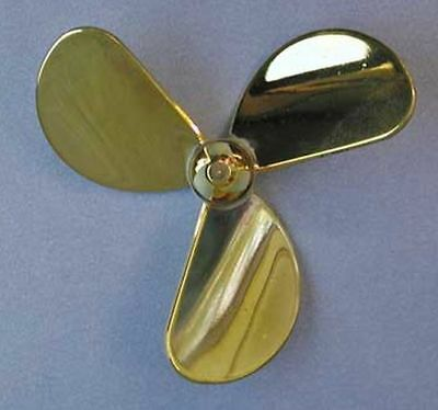 Raboesch Brass Plated Propeller 3 Blade Left Hand With M4 Thread Ship • 18.99£