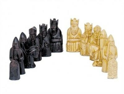 NEW Dal Rossi ISLE OF LEWIS Sculpted Polyresin Chess Pieces Board NOT Included • 133.03£