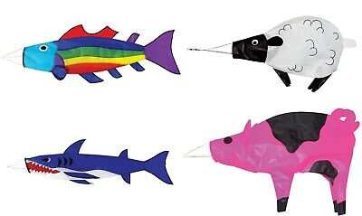 Spirit Of Air Windsocks - Pig, Sheep, Shark, Rainbow Fish, Flags • 11.99£