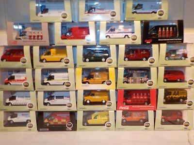 Ford Transit Vans, Oxford 1/76 (One Postage, Buy All You Want) • 7.99£