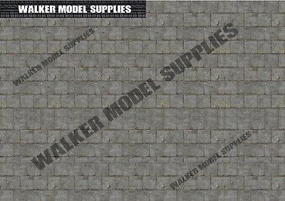 1:35 Scale (3xA4) Pavement Floor - Peel And Apply Decal/model/diorama/military 2 • 8.95£