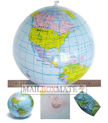 Inflatable Globe Map Ball World Earth Geography Blow Up Atlas Educational Toy    • 1.95£