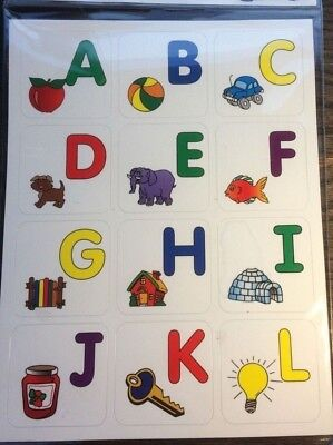 ABC Magnetic A-Z Letters With Pictures - Fridge Magnets - Educational - Alphabet • 3.99£