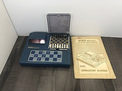 Authentic Vintage 1979 Boris Diplomat Electronic Chess Computer With Manual • 34.42£