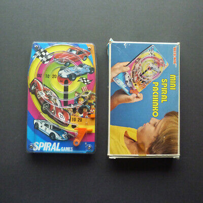 Vintage 1970s 'Blue Box' Sports & Racing Cars Spiral Pachinko Game. Boxed. VGC • 10£