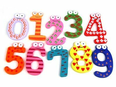 Fun Colorful Magnetic Numbers Wooden Fridge Magnets Kids Educational Toys • 4.99£