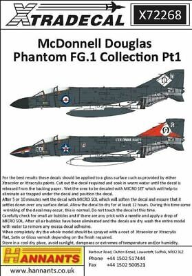 Xtradecal X72268 1/72 McDonnell Douglas Phantom FG.1 Collection Pt1 Model Decals • 8.29£