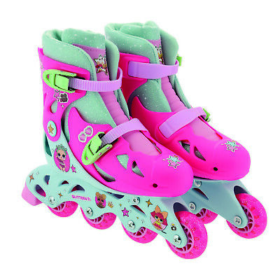 LOL Surprise Children Kids In-line Roller Skates Junior Size With Sticker Sheet • 34.95£