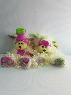 Beanie Kids Monsters Series Snoz Pair Common And Mutation NWT Pink Green   • 21.99£