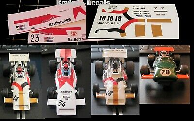 1/32 Scale Decals For Scalextric BRM C051 - 6 Variations • 4£