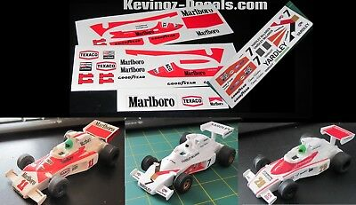 1/32 Scale Decals For Scalextric McLaren M23 C127 - 6 Variations • 4£