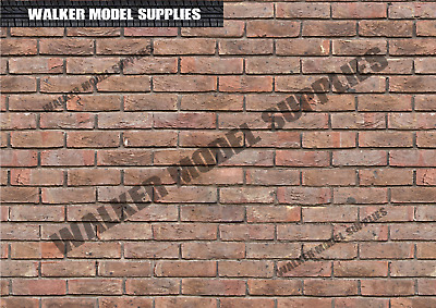 1:6 Scale (3xA4) Brick Wall - Peel And Apply Sticker/ Diorama Model 4 • 8.95£