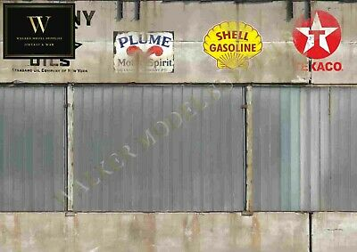 1:18 - 1.24 Scale (3xA4) Garage Wall - Peel And Apply Sticker//model Car 62 • 8.95£
