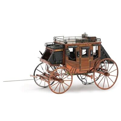 Fascinations Metal Earth Wild West Stagecoach 3D Steel Puzzle Model Kit MMS189 • 13.85£