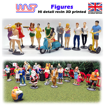 WASP Figures, Grid Girls, Drivers, Mechanic, People, Pit Crew, 1/32 Scale • 6£