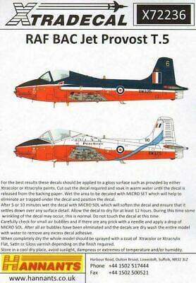 Xtradecal X72236 1/72 BAC Jet Provost T.Mk.5 RAF Model Decals • 8.29£