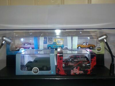Display Case & Lights, Suitable For Oxford Diecast Models • 19.99£