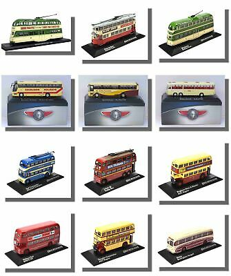 Trolleybuses, Coaches, Trams, Buses, Atlas 1/76 Scale, New • 15.99£