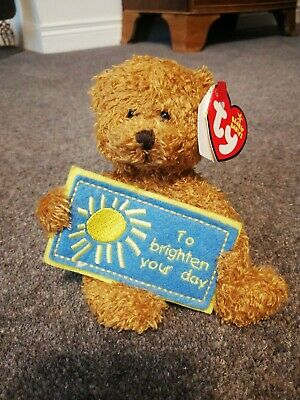 Ty To Brighten Your Day - Gold Bear (beanie Babies)  • 8.99£