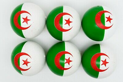Algeria Flag Coches For Petanque/Boules Different Quantity's Available  • 12.99£