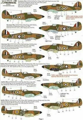 Xtradecal X72117 1/72 Battle Of Britain 70th Anniversary RAF Model Decals • 8.40£