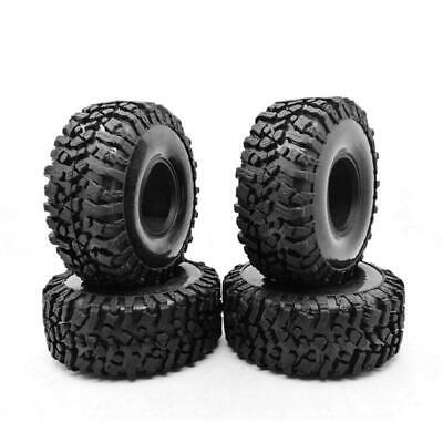 4PCS 120MM 1.9INCH Rubber Rocks Tyres Wheel Tires For 1:10 RC Axial SCX10 TRX-4 • 16.36£
