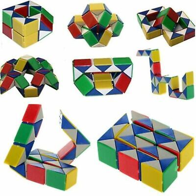 Snake Rubiks Rubix Rubic Magic 3D Cube Game Puzzle Toy Party Travel Family Child • 3.19£