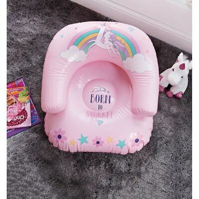 Unicorn & Tropical Inflatable Chair For A Little Princess Christmas Presents • 11.95£