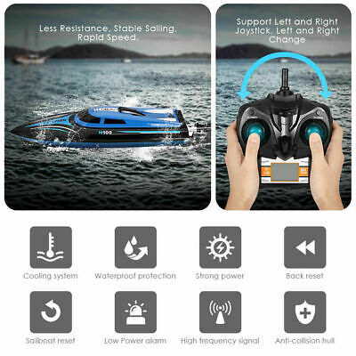 Remote Control High Speed Boat RC Racing Outdoor Toys For Pool Lake River Hot • 34.99£