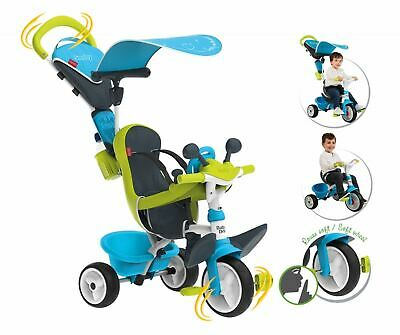 Smoby Baby Driver Comfort Blue & Green Boys Trike Tricycle Kids Childrens • 87.95£