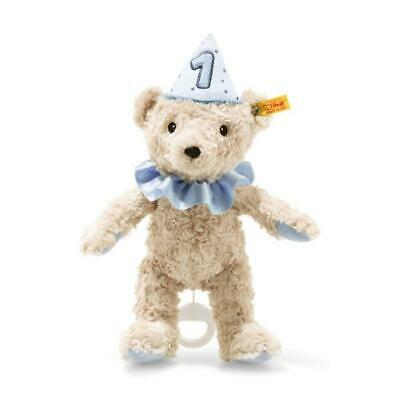 Steiff First Birthday, Musical Teddy Bear, Blue Coloured, Brand New!  • 44.99£