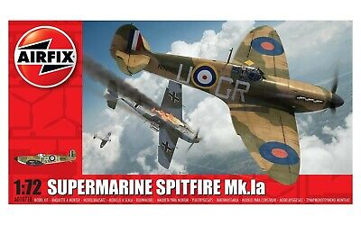 Airfix Supermarine Spitfire MkIa  1:72 Scale Plastic Model Kit • 9.99£