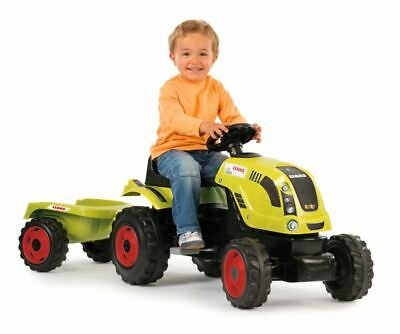 Smoby Claas Farmer Tractor Xl Kids Childrens Sit Ride On Toy • 87.95£