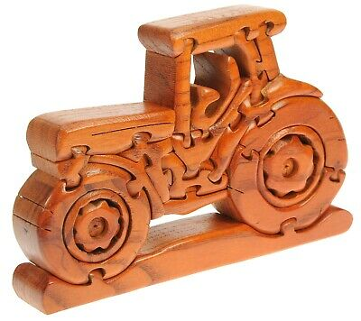 Kids Fun Wooden Tractor Puzzle : Childrens Novelty Jigsaw : Gift Ideas For Xmas • 18.95£