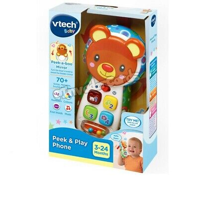 VTech Baby Peek-a-boo Mirror Play Phone 3 - 24 Months Educational Toy Brand New  • 11.99£