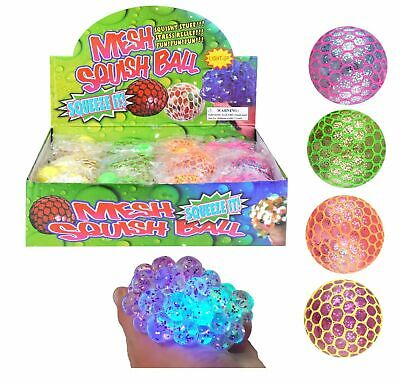 Squishy Mesh Ball Fidget Stress Toys Squishes Kids Fun Play Squeezy Gripper Ball • 4.95£