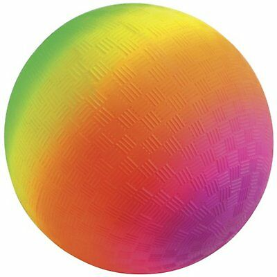Neon Rubber Playground Ball 15cm Textured Ball Rainbow Ball Great Outdoor Fun • 5.86£
