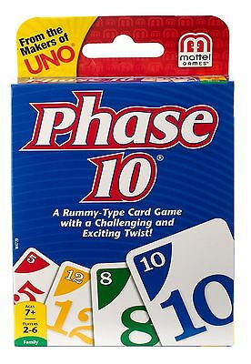 Phase 10 Family Card Game From The Makers Of Uno A Rummy Type Game • 4.99£